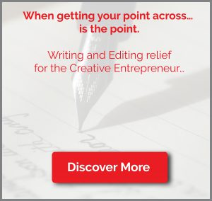 Ariane Goodwin Writing and Editing relief for the Creative Entrepreneur